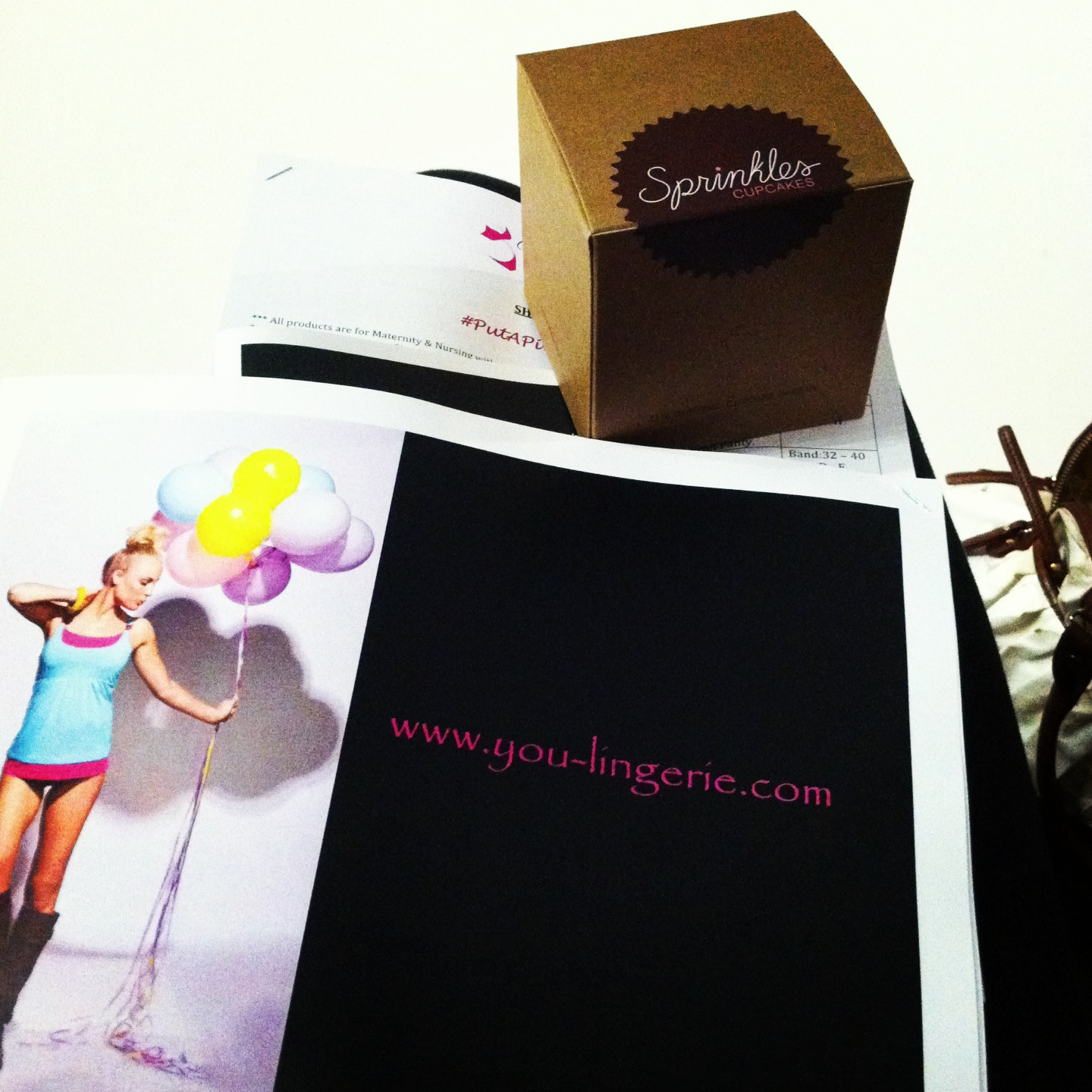 Everyone got to enjoy a cupcake from Sprinkles! What's better that baked goods and lingerie?
