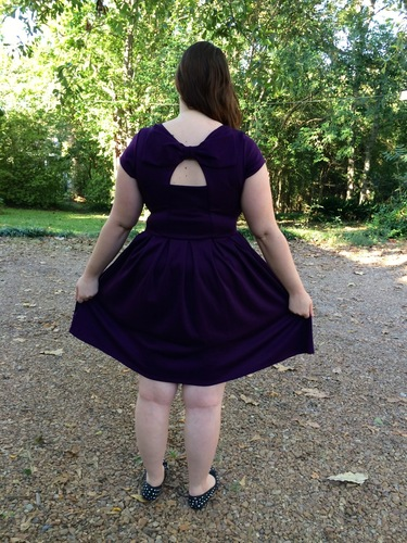 Holly Golightly Dress in Plum by Fleet Collection