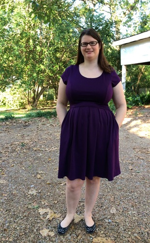 Holly Golightly Dress in Plum