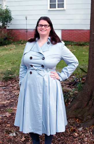 Collectif Dietrich Swing Trench in XL