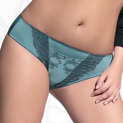 Selena Brief in Green by Kris Line